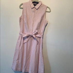 Cynthia Rowley Pink Seersucker Dress 12